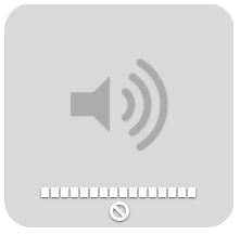 Sound control unavailable icon.