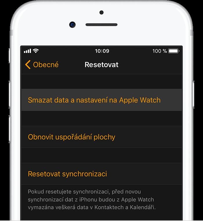 Obrazovka obnovení na iPhonu
