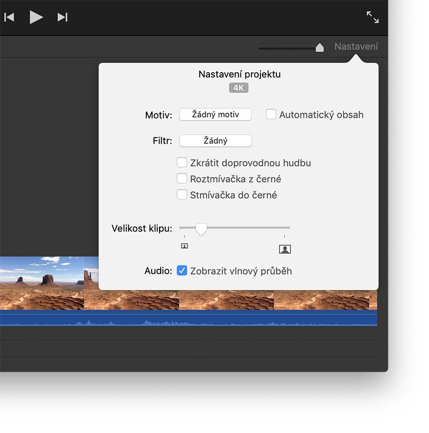 Střih a sdílení videa ve vysoké kvalitě pomocí iMovie - Podpora Apple