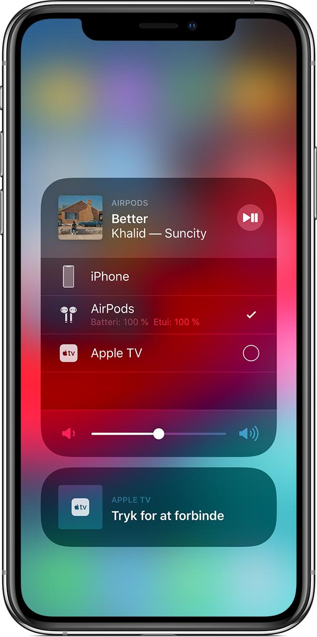Følg denne fremgangsmåde for at bruge dine AirPods til at afspille lyd fra  en anden enhed eller for at afspille lyden på andre hovedtelefoner eller ... 47ff4027f67df