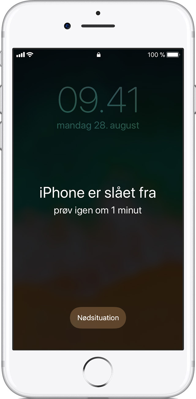 Glemt adgangskode til en iphone ipad eller ipod touch eller enheden er deaktiveret apple support - Er finestra mac ...