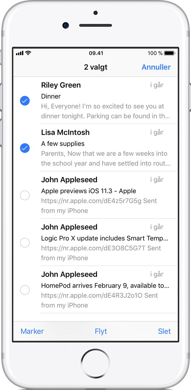 Brug af postkasser til organisering af e-mails på din iPhone, iPad og iPod touch - Apple-support