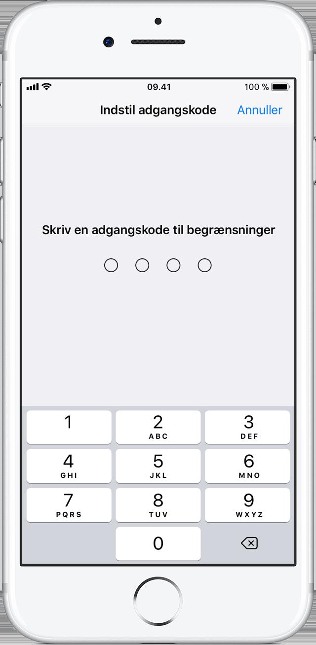 Brug af Begrænsninger til at forhindre køb på din iPhone, iPad eller iPod touch - Apple-support