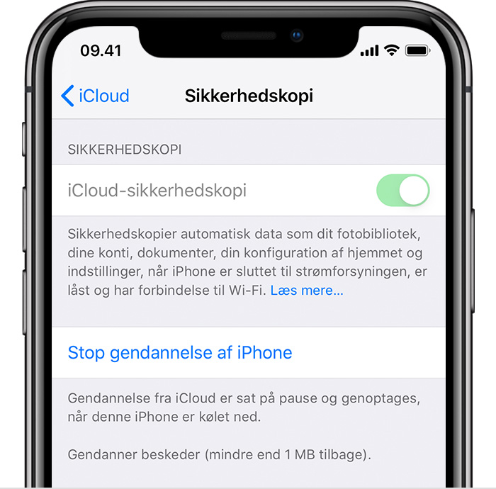 Om Manglende Oplysninger Efter Gendannelse Af Iphone Ipad Eller Ipod Touch Med Icloud Sikkerhedskopi Apple Support