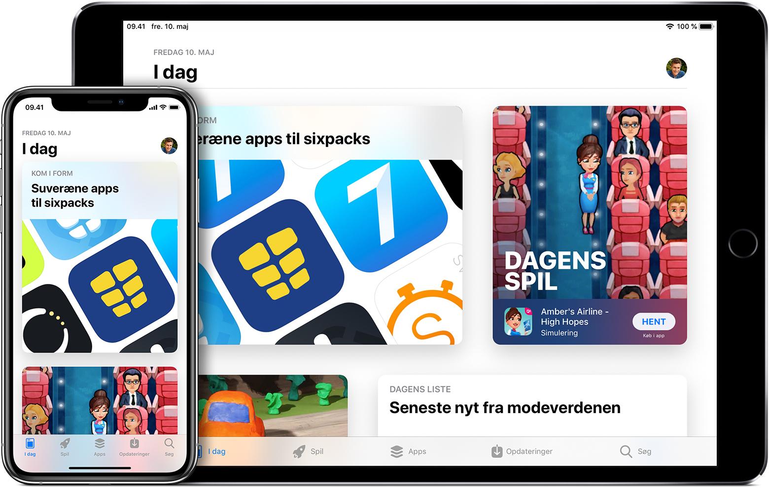 Download af apps og spil via App Store - Apple-support