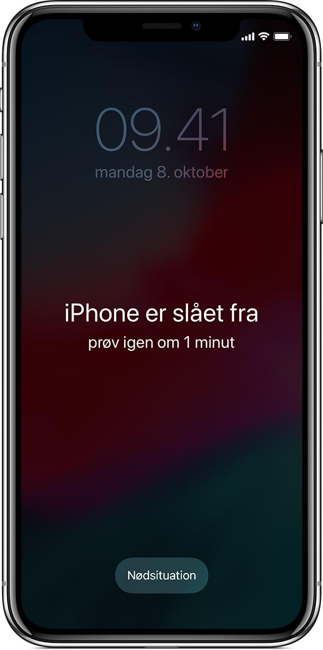 oplåsning af iphone
