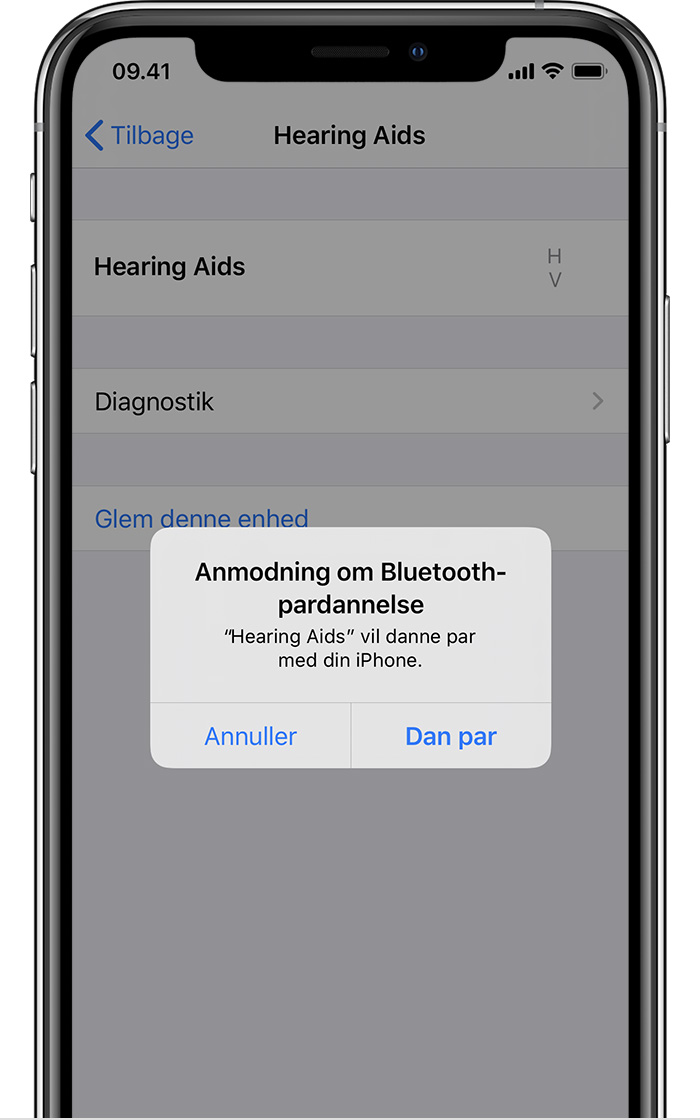Anmodning om Bluetooth-pardannelse