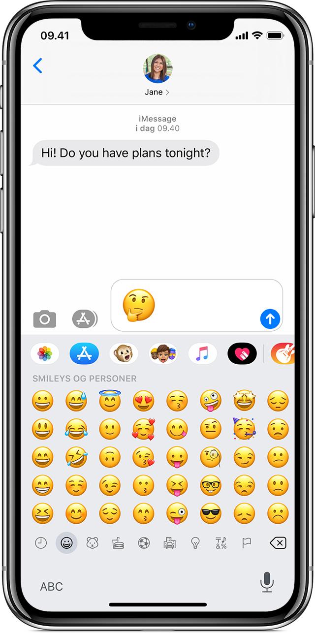 Brug af emojis på iPhone, iPad og iPod touch Apple support