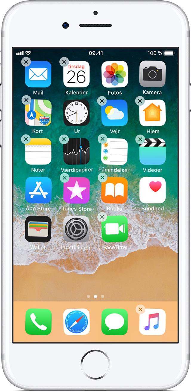 Flytning af apps og oprettelse af mapper på din iPhone, iPad eller iPod touch - Apple-support