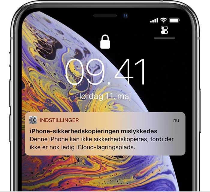 Sadan Gor Du Hvis Du Ikke Kan Sikkerhedskopiere Til Icloud Eller Gendannelse Fra Icloud Sikkerhedskopiering Mislykkedes Apple Support