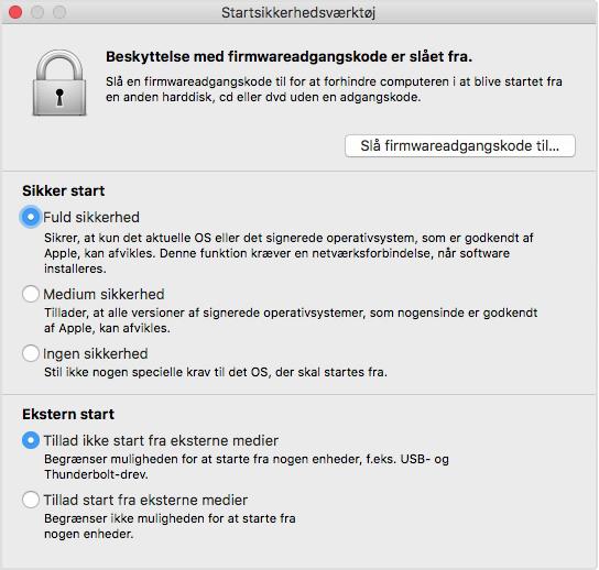 72f034ebe Om Startsikkerhedsværktøj - Apple-support