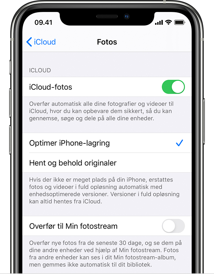 Administration Af Dit Billed Og Videolager Apple Support