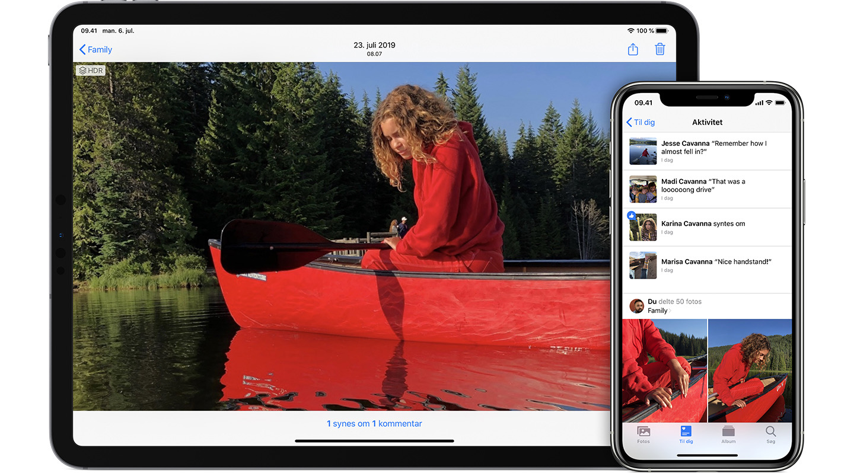 Sadan Deles Album I Fotos Pa Din Iphone Ipad Og Mac Apple Support