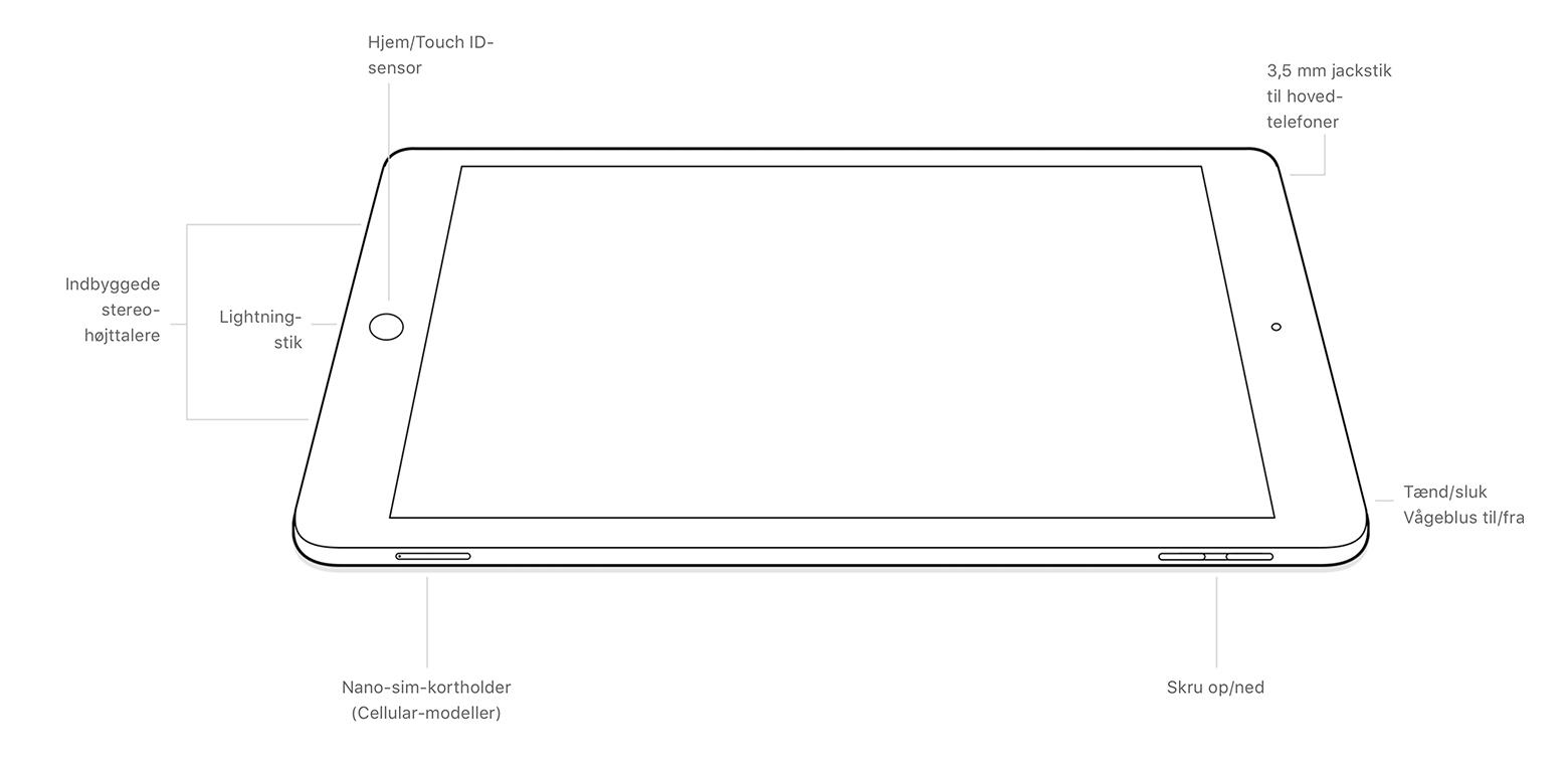 ipad-5gen-buttons-connectors Find din iPad-model ud fra A-nummeret