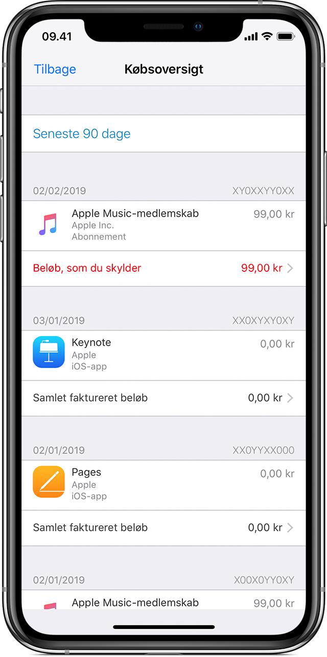 4aaca8b6 Når du køber indhold i App Store eller iTunes Store eller foretager andre  digitale køb med dit Apple-id, kan du gendownloade dine køb på en hvilken  som ...