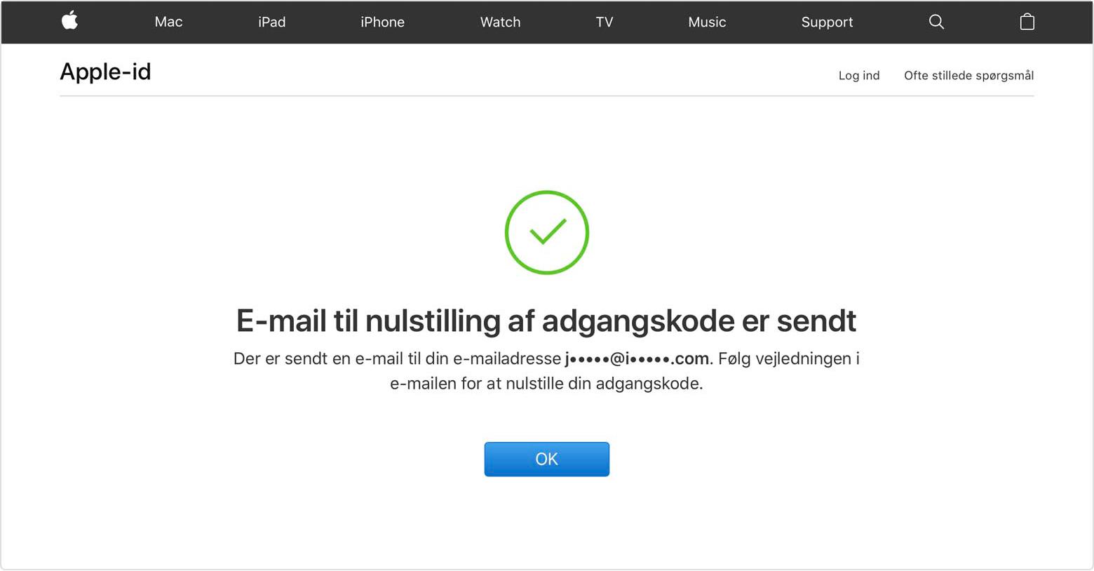 mit apple id virker ikke