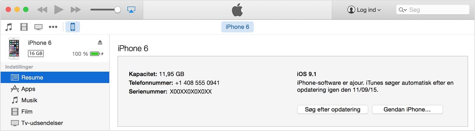 iphone glemt kode