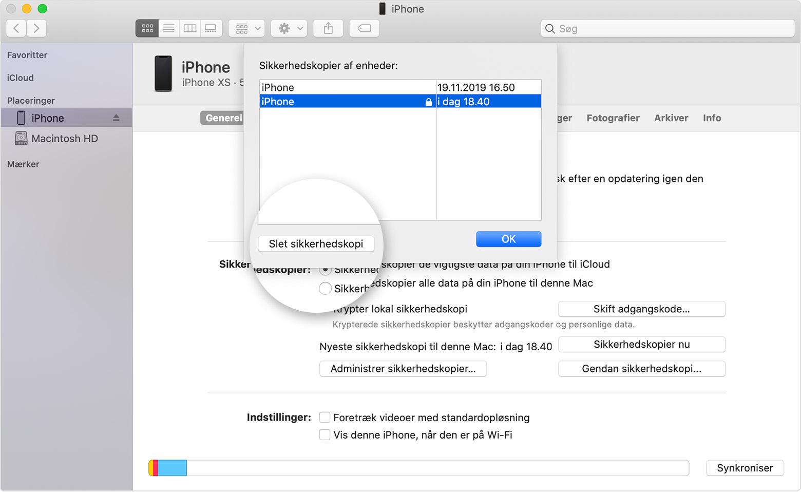 Sadan Finder Du Sikkerhedskopier Af En Iphone Ipad Eller Ipod Touch Apple Support