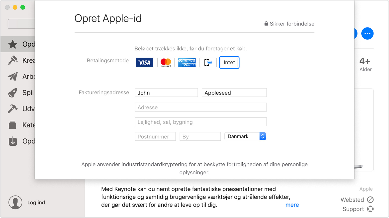 apple id alder