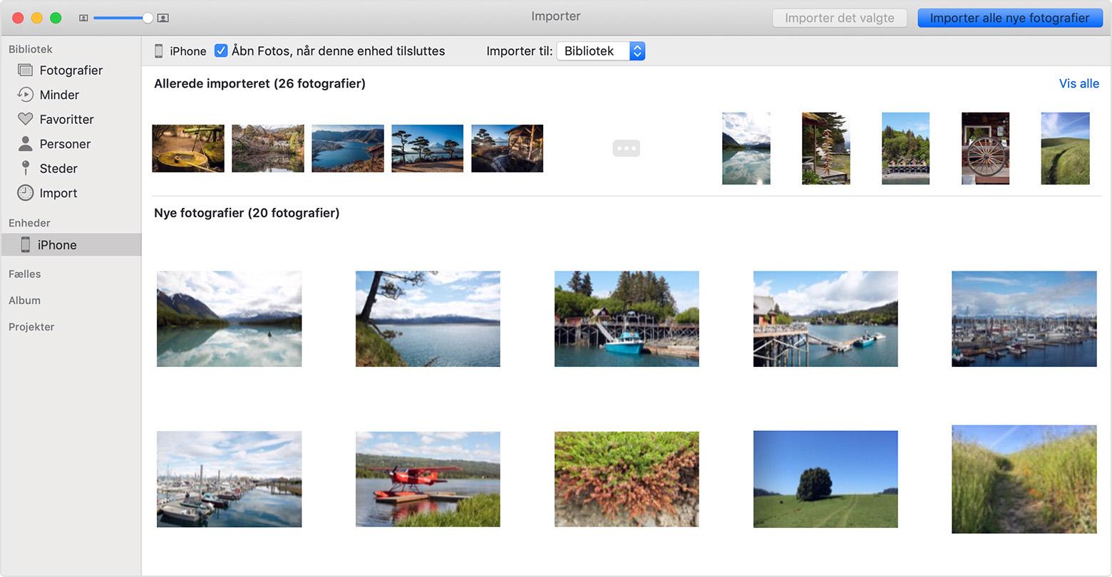 adea5035c07 Overførsel af billeder og videoer fra din iPhone, iPad eller iPod ...