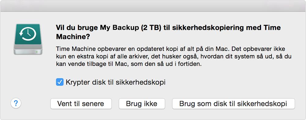 a82bd66acc3 Advarsel: Vil du bruge denne disk til at sikkerhedskopiere med Time Machine?