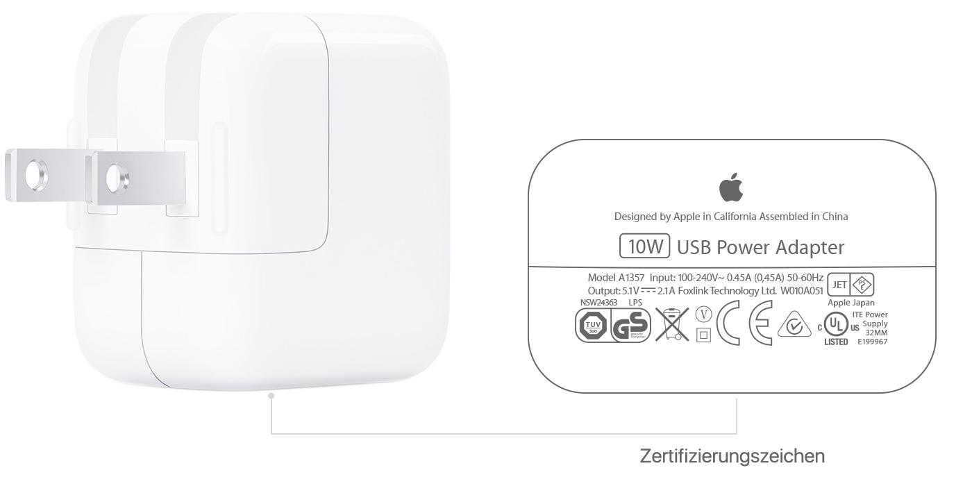 Informationen zu USB Netzteilen von Apple Apple Support