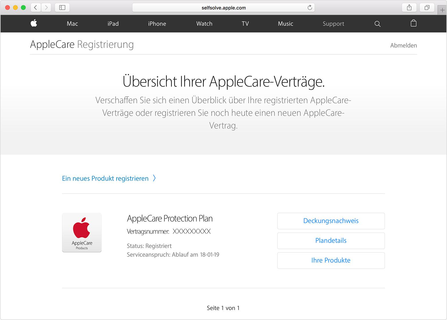 Mac Registrieren