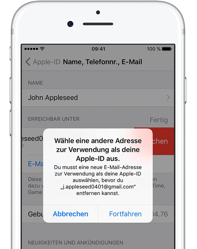 Apple Id Neue Email Existiert Nicht Apple Community
