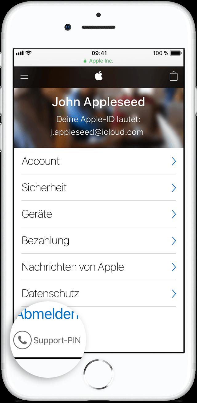 bestätigungscode apple