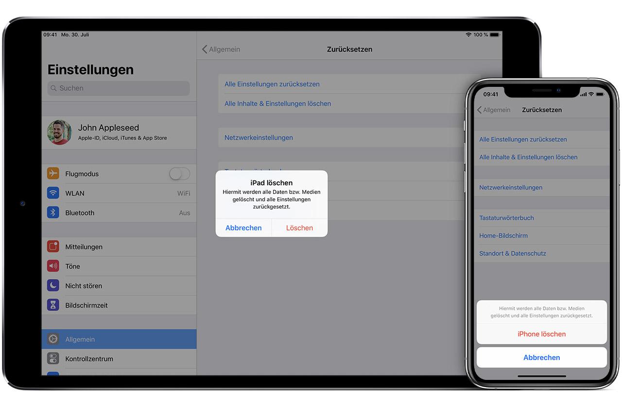 Vorbereitung Eines Iphone Ipad Oder Ipod Touch Auf Einen Verkauf Eine Weitergabe Oder Eine Inzahlunggabe Apple Support
