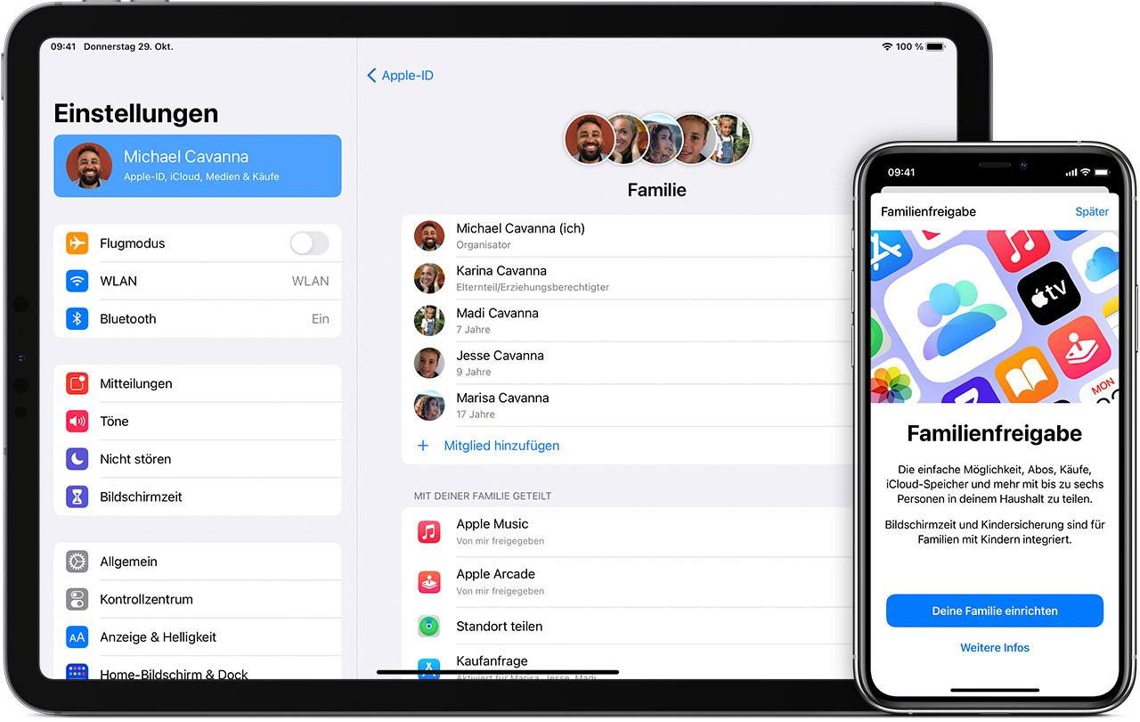 Familienfreigabe einrichten - Apple Support