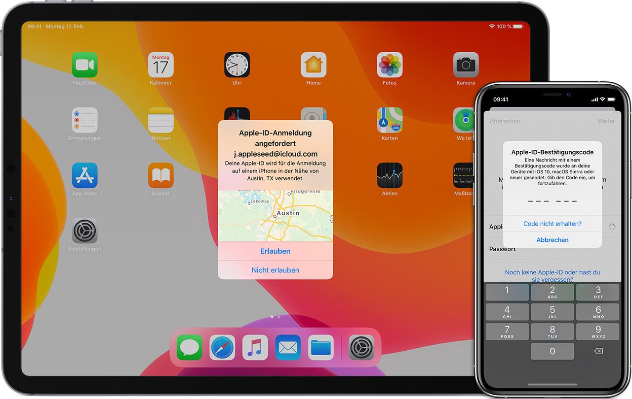 Zwei Faktor Authentifizierung für die Apple ID   Apple Support DE