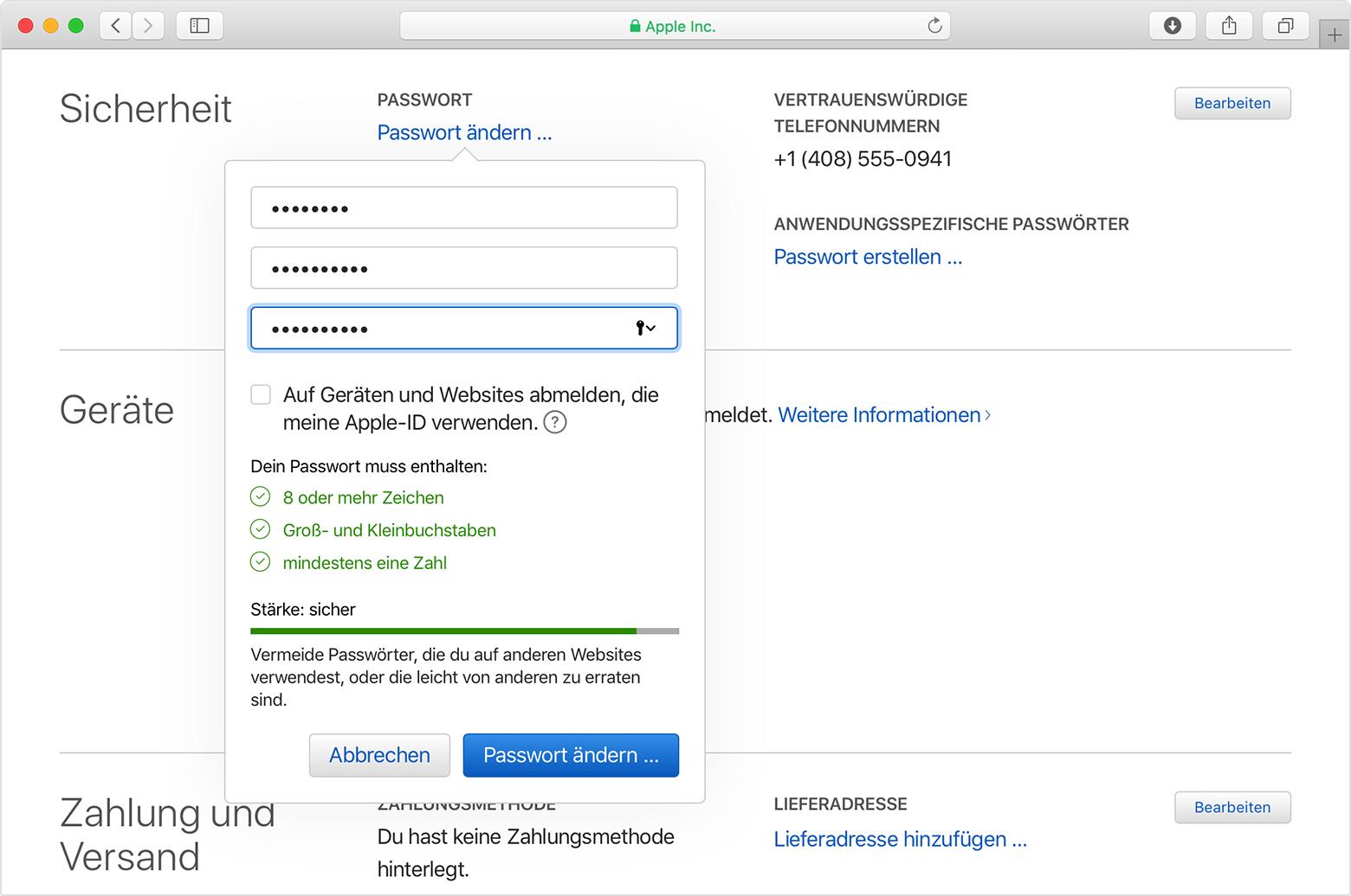 Sicherheit und Ihre Apple-ID - Apple Support