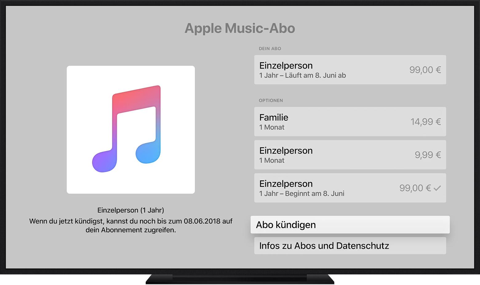 apple music abonnement auf dem iphone ipad ipod touch mac pc oder apple tv verwalten apple. Black Bedroom Furniture Sets. Home Design Ideas