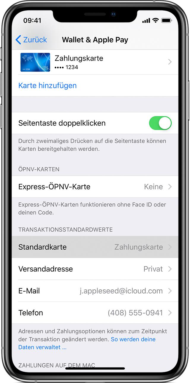 Visa Karte Sicherheitscode.Mit Apple Pay Verwendete Karten Verwalten Apple Support