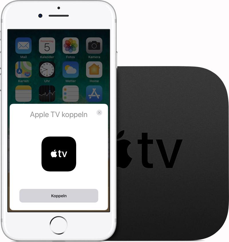 Ein Ios Gerät Oder Einen Mac Mit Einem Apple Tv Koppeln Apple Support