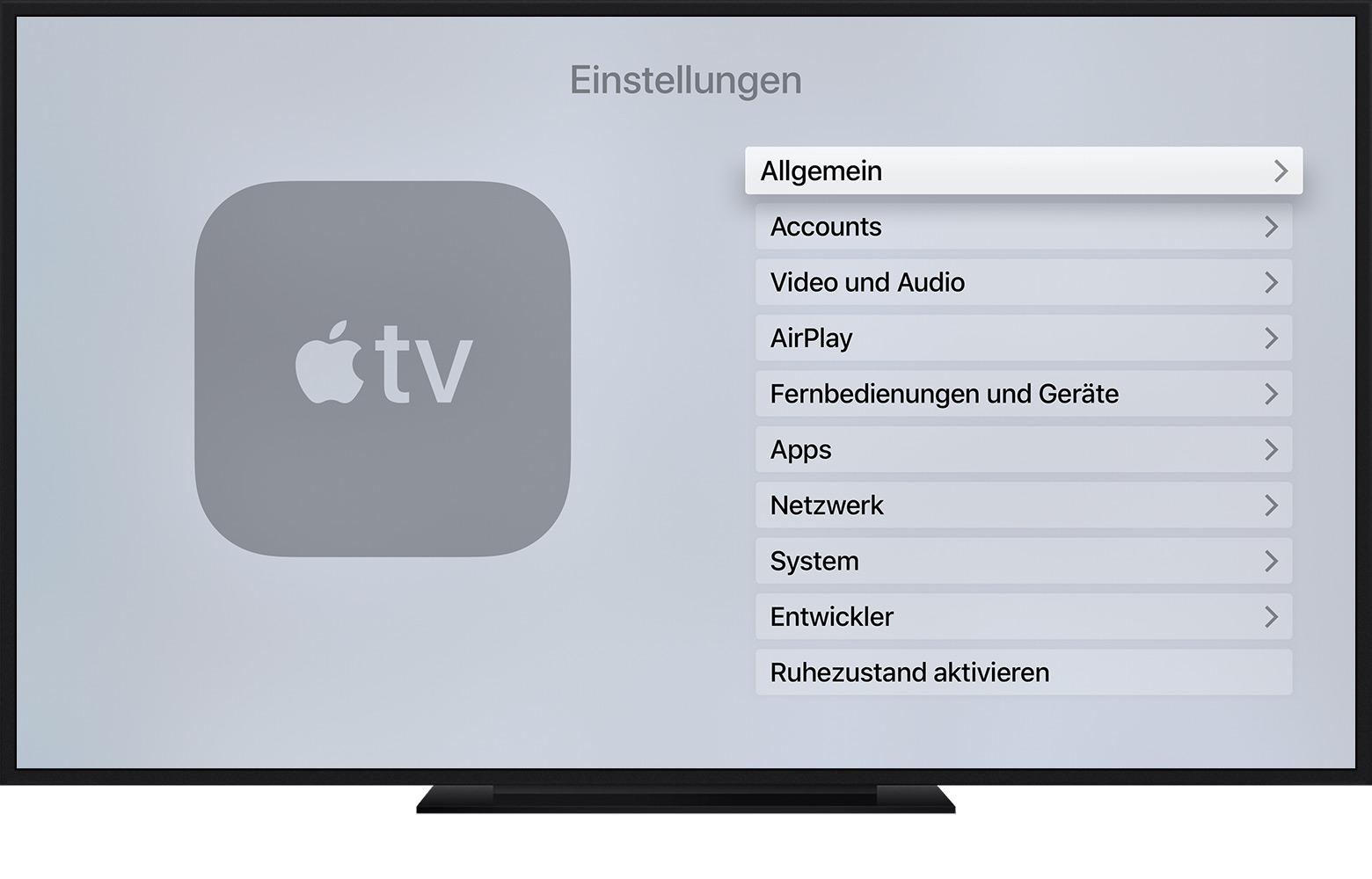 Sprache Des Apple Tv ändern Apple Support