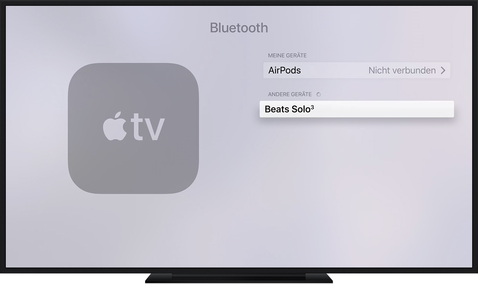bluetooth zubeh r f r apple tv 4k oder apple tv 4. Black Bedroom Furniture Sets. Home Design Ideas