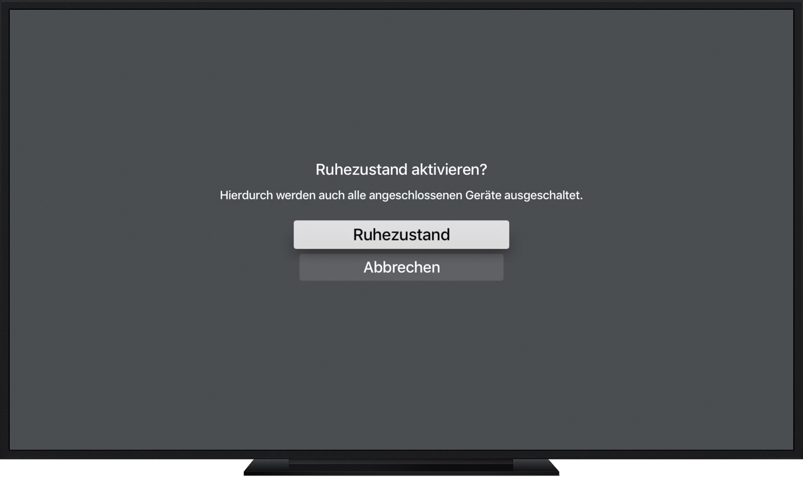 Apple Tv In Den Ruhezustand Versetzen Apple Support