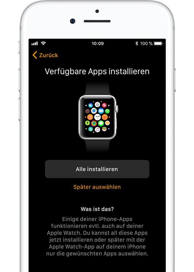 hänge Apps für iphone zusammen