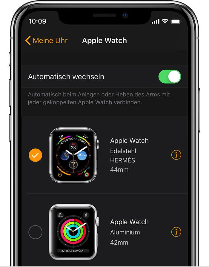 Johns AppleWatch (42mm, Aluminium) in der Watch-App.