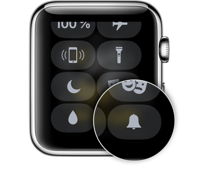 Kontrollzentrum auf der Apple Watch