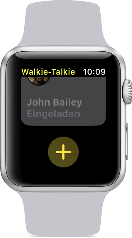 Freunde in der Walkie-Talkie-App