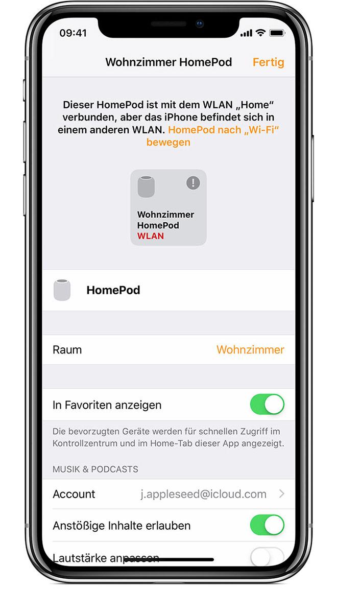 wenn der homepod nicht reagiert apple support. Black Bedroom Furniture Sets. Home Design Ideas