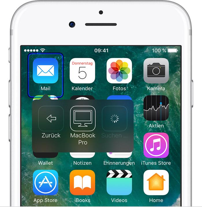 anderes iphone steuern