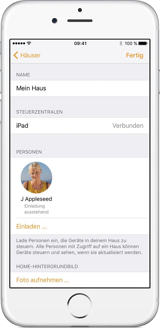 verwendung der home app auf dem iphone ipad und ipod touch apple support. Black Bedroom Furniture Sets. Home Design Ideas