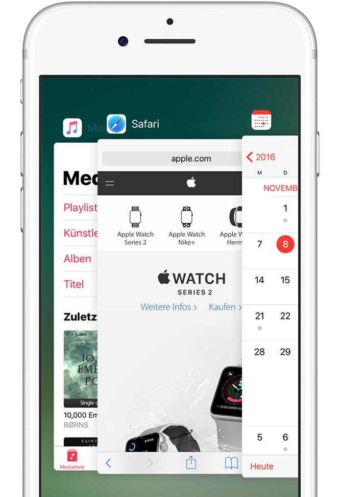 eine app auf ihrem iphone ipad oder ipod touch zum schlie en zwingen apple support. Black Bedroom Furniture Sets. Home Design Ideas