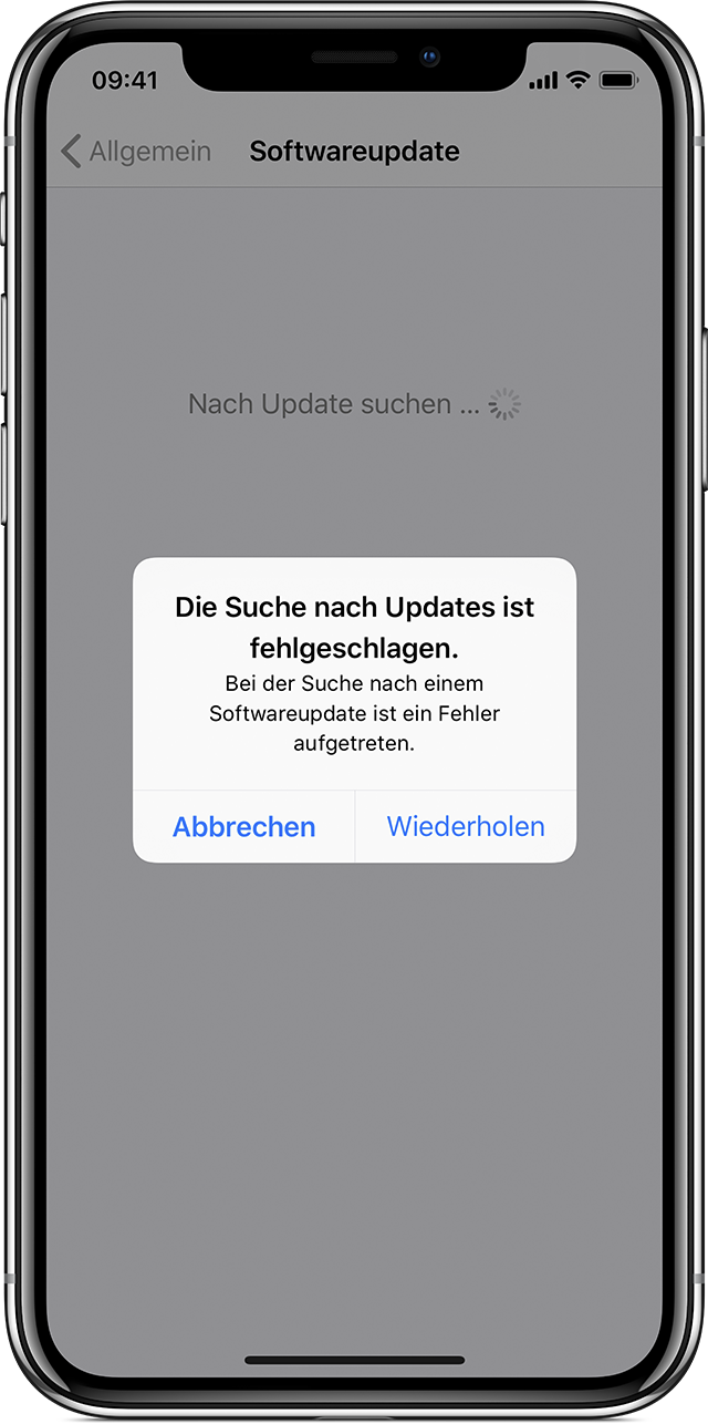 Iphone 5 Software Update Geht Nicht