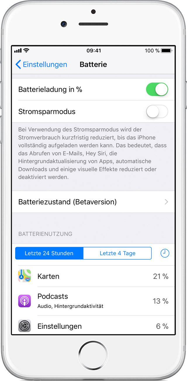 iPhone: Batterie und Leistung - Apple Support