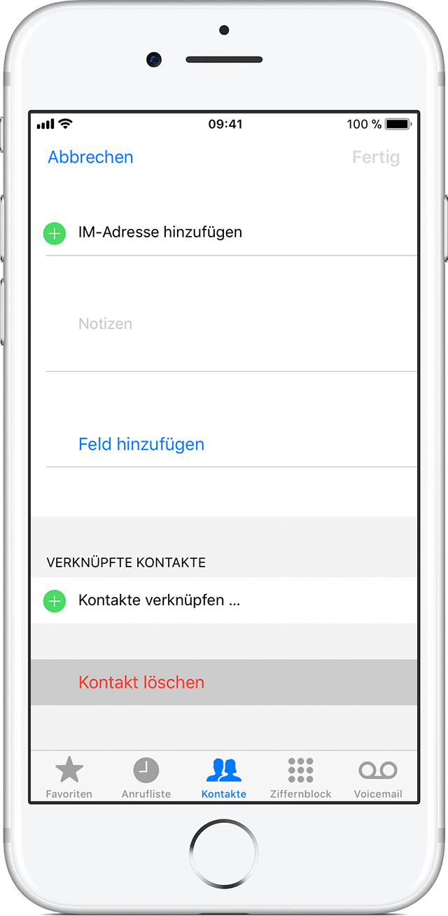 delete contacts on iphone kontakte auf ihrem iphone oder ipod touch verwalten 8014